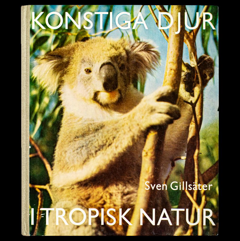 """Bild på boken """"Konstiga djur i tropisk natur"""", Sven Gillsäter (1962)"""