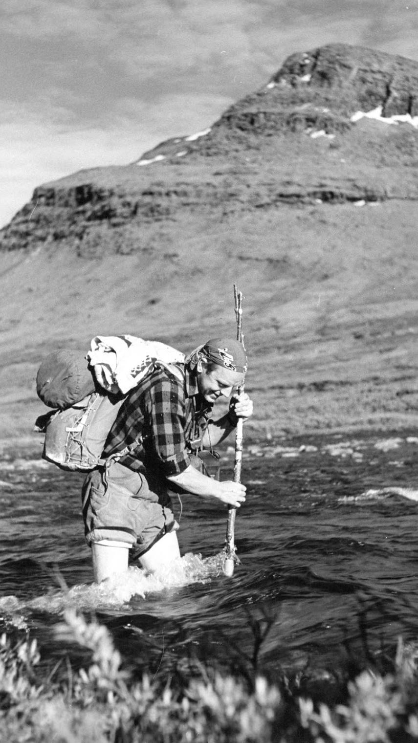 Sven fiskar.
